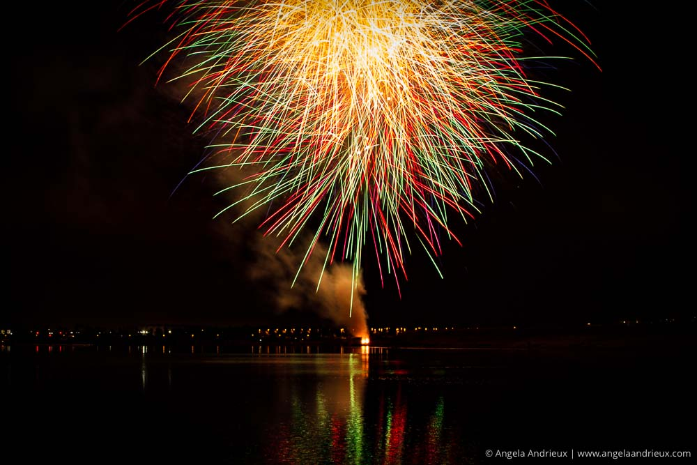 Sea World Fireworks Viewed from Fiesta Island | San Diego, CA