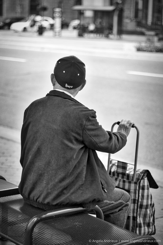 Man at bus stop | Street Photography | San Diego, CA