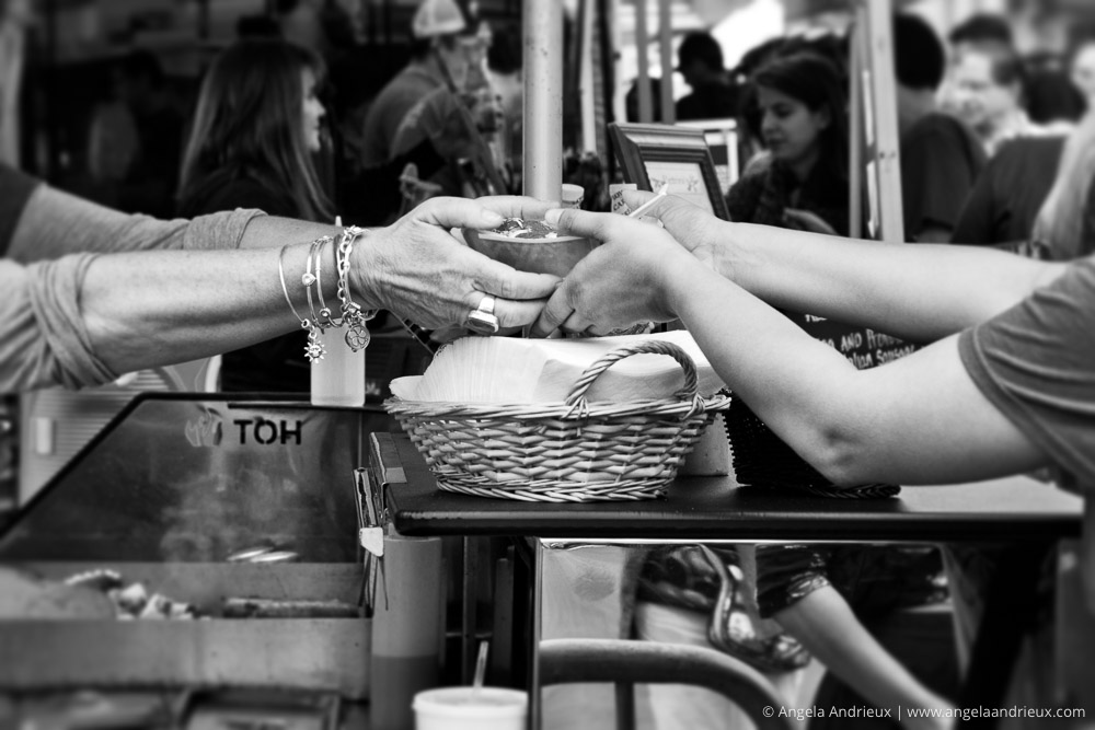 Giving Hands | Street Photography | Little Italy Mercado | San Diego, CA