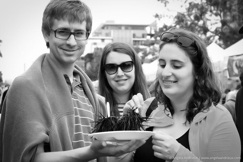 People Enjoying Fresh Urchin | Street Photography | Little Italy Mercado | San Diego, CA