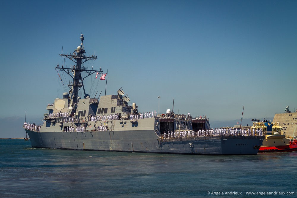 USS Sterett DDG 104 Departing for Deployment August 2014
