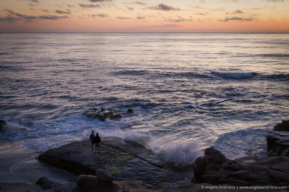 Watching the Tide Come In | Sunset at Windandsea Beach | La Jolla, CA