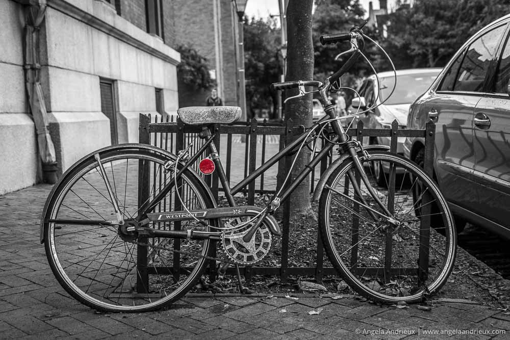 Black and White Bicycle with Red Reflector | Freemason District | Norfolk, VA | Worldwide Photo Walk