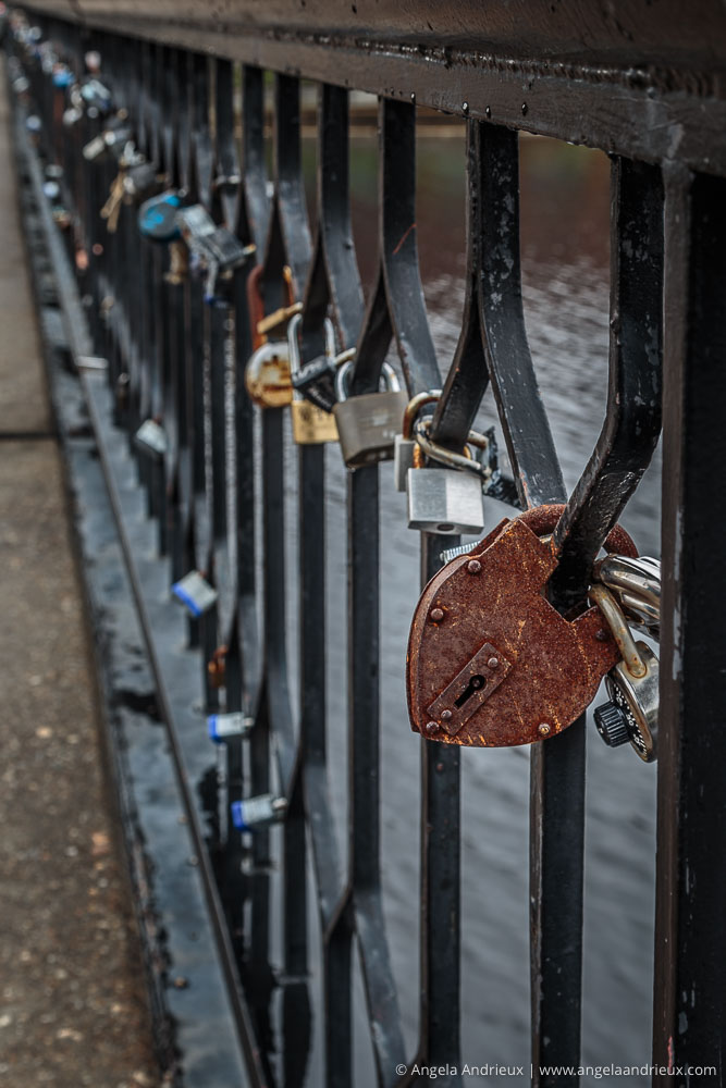 Lovers' Locks on Norfolk's Hague Bridge | Worldwide Photo Walk