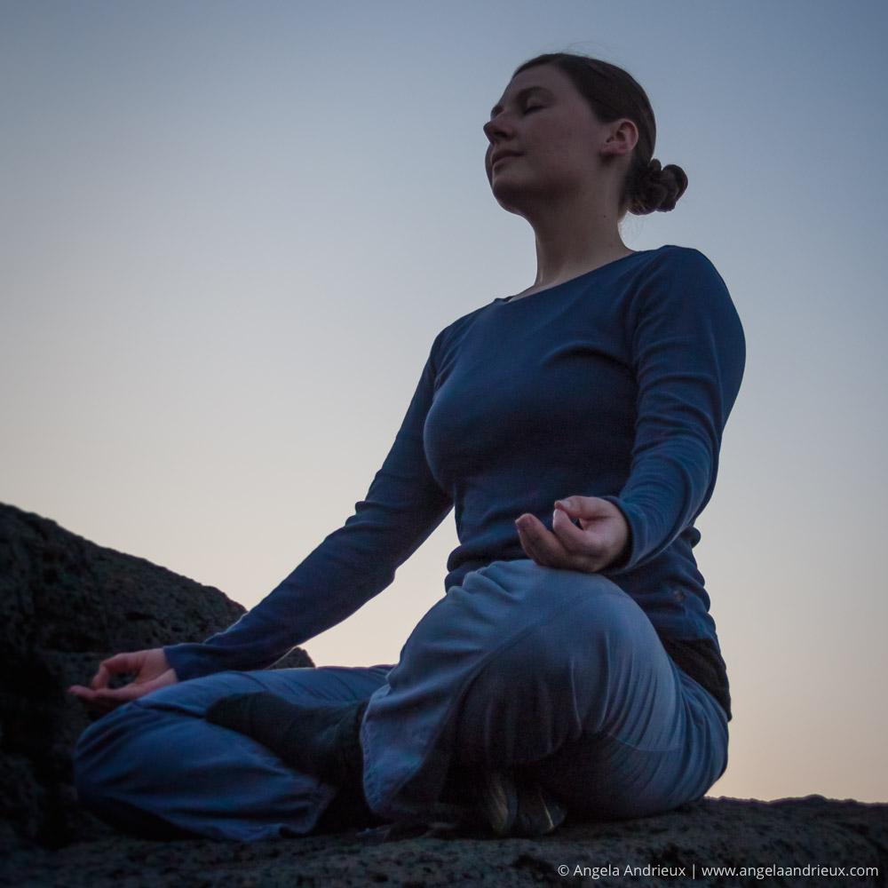 Photographing with Intention | Girl Woman Outdoor Yoga Meditation