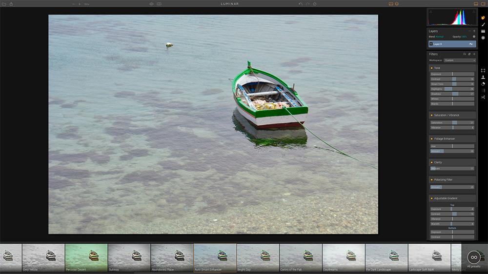 Luminar Screenshot | After Auto Smart Enhance Preset
