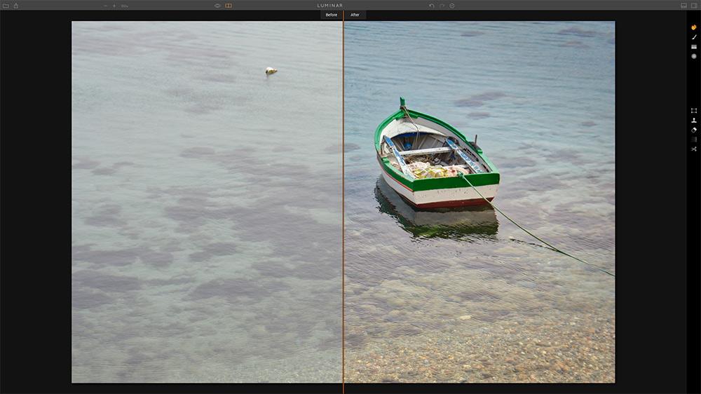 Luminar Screenshot | Before & After Luminar