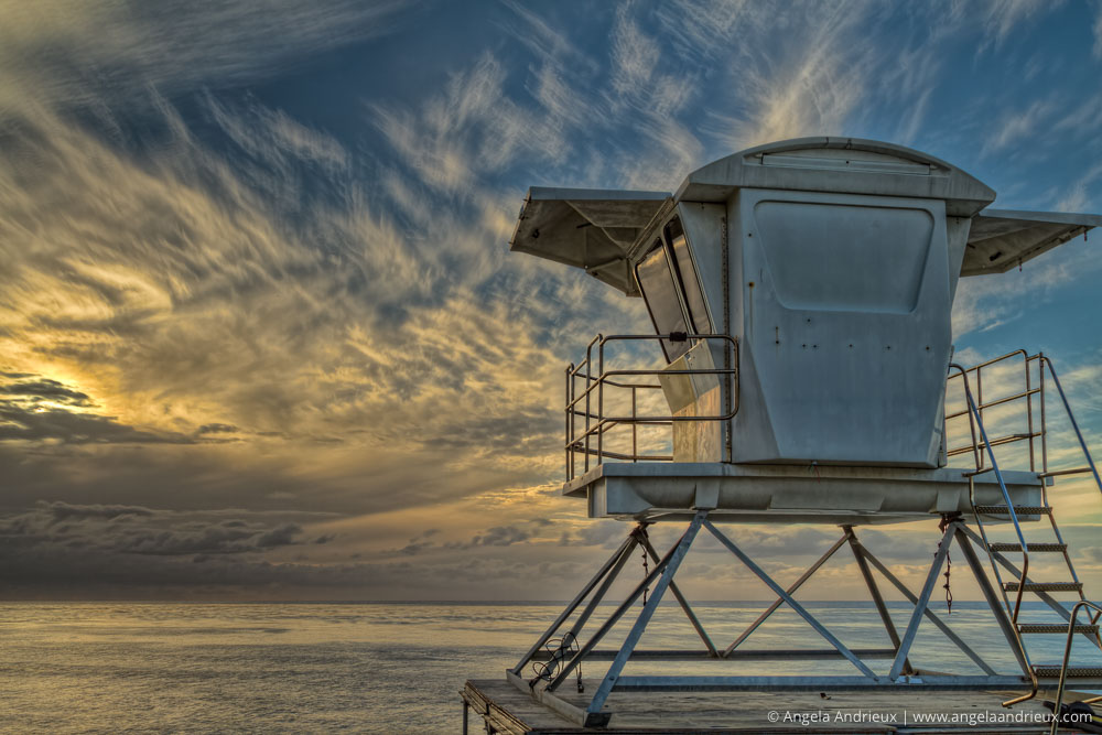 Anticipating Tomorrow | Lifeguard stand at Sunset | HDR | La Jolla, CA