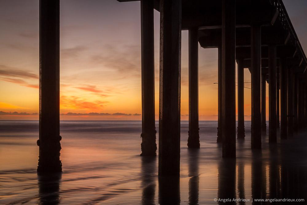Sunset Silhouette of Scripps Pier | La Jolla, CA