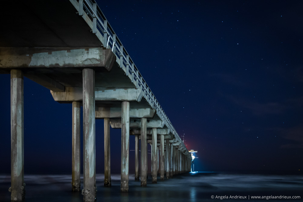 Night Sky @ Scripps Pier | La Jolla, CA