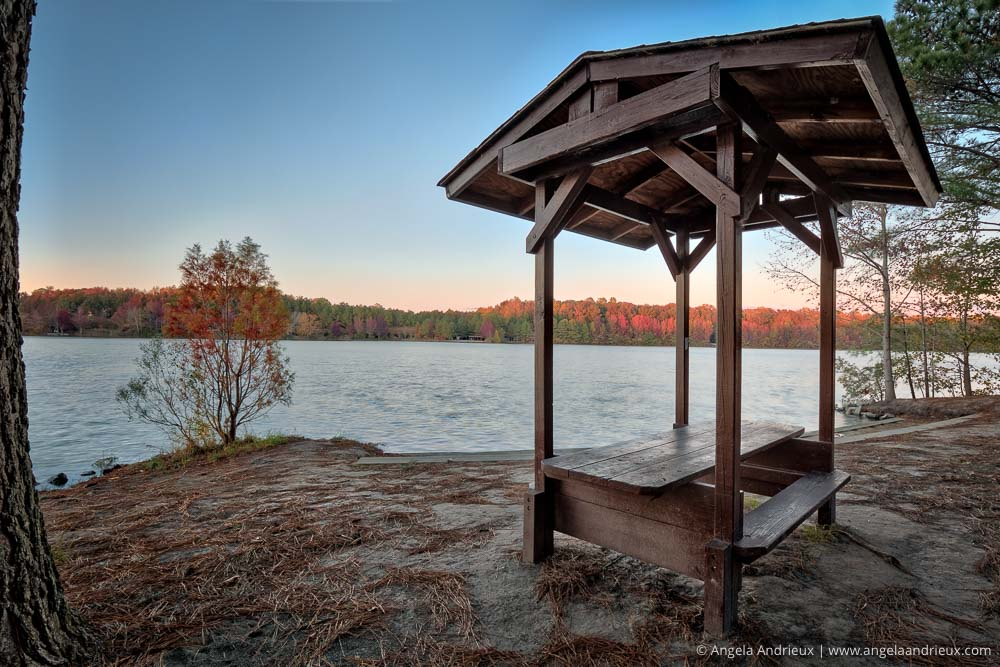 Fall Sunset at Oak Grove Lake Park | Chesapeake, VA
