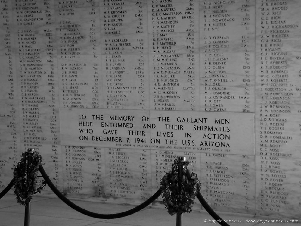 Remembrance Wall | Pearl Harbor | Oahu | Hawaii