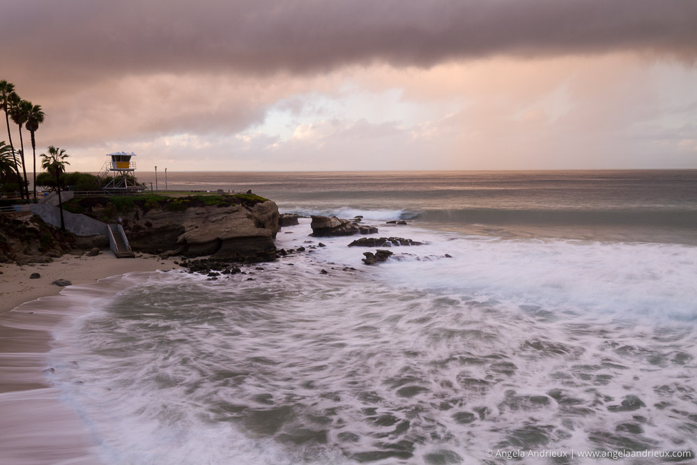 Stormy Evening Sunset | La Jolla Cove | California