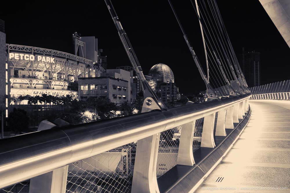 Altered Perspective | Harbor Drive Pedestrian Bridge and Petco Park | San Diego, CA
