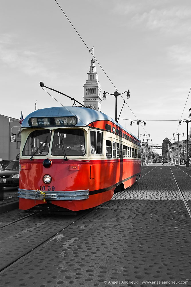 Red Streetcar in San Francisco