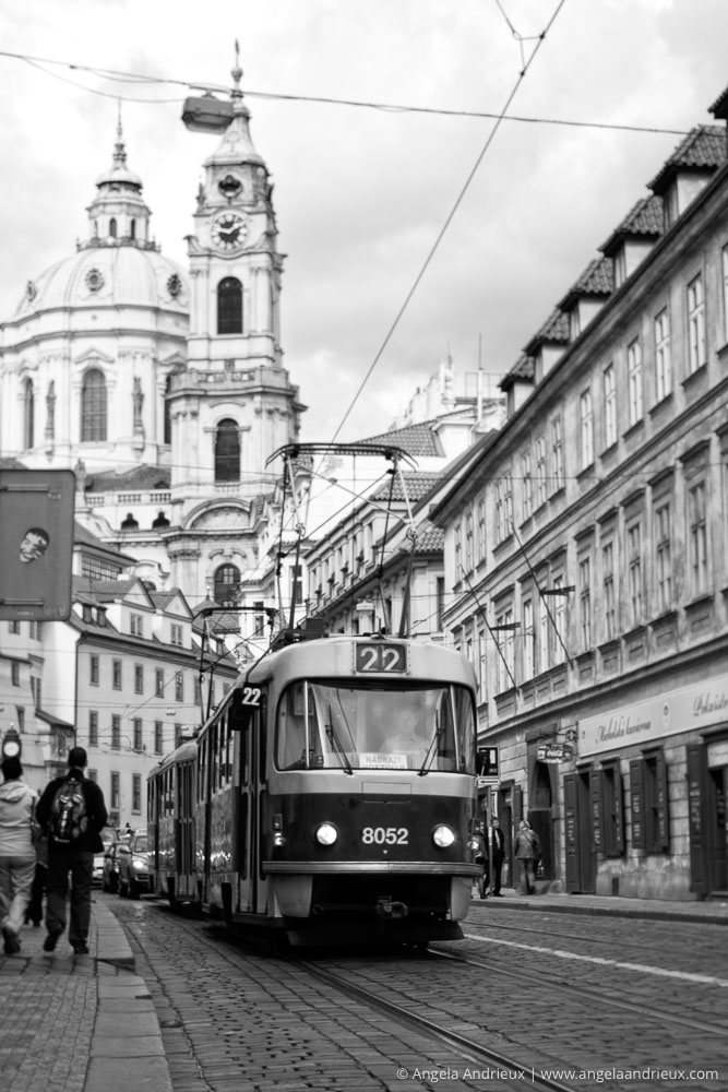 Trolly and Church of St. Nicholas | Prague | Czech Republic