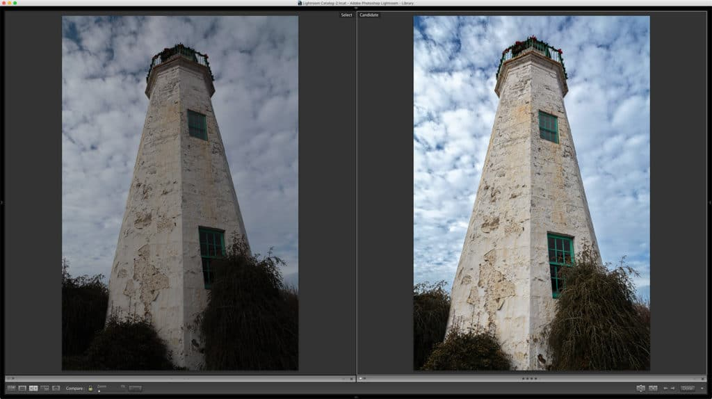 Before and After Lightroom and On1 Photo RAW