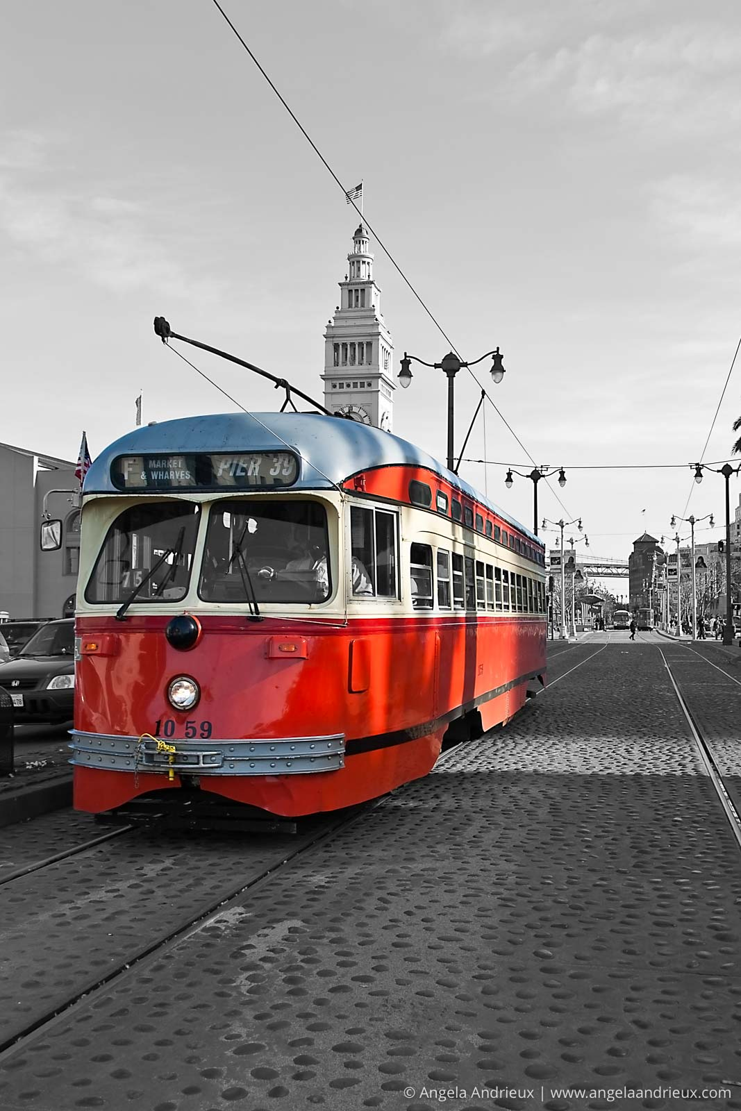 Streetcar in San Francisco | San Francisco, CA | Selective Color