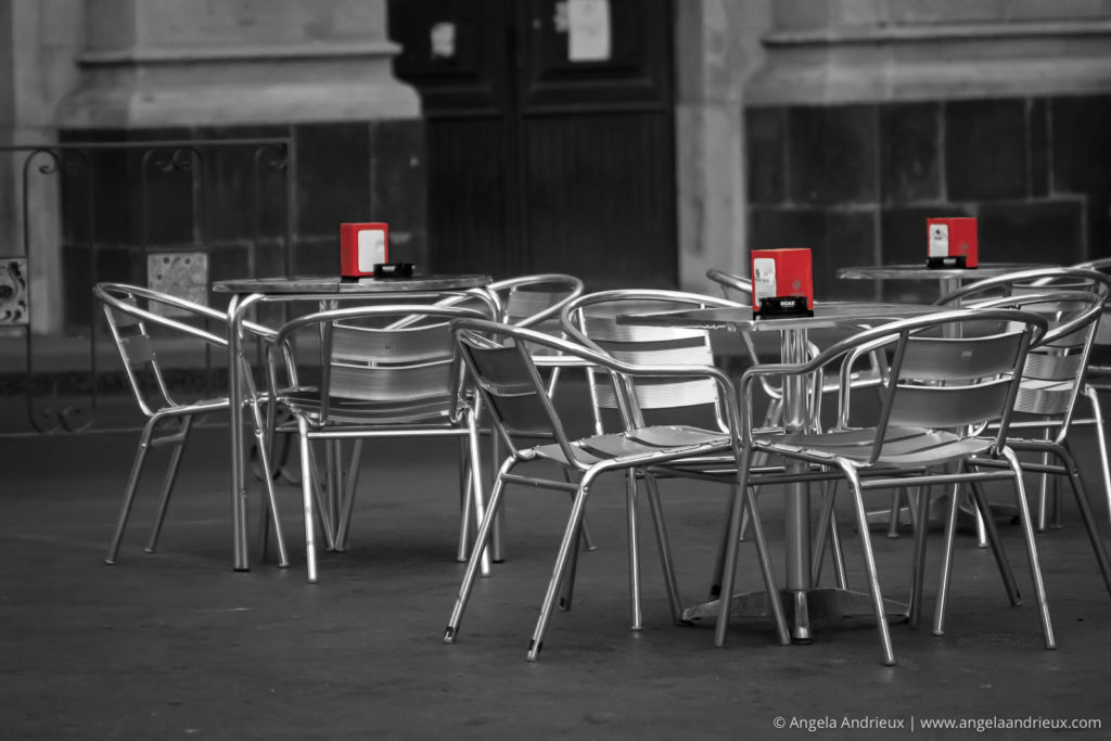 Cafe in the Piazza | Caltagirone | Sicily | Italy | Selective Color