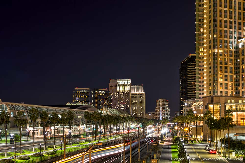 Downtown San Diego, CA at Night
