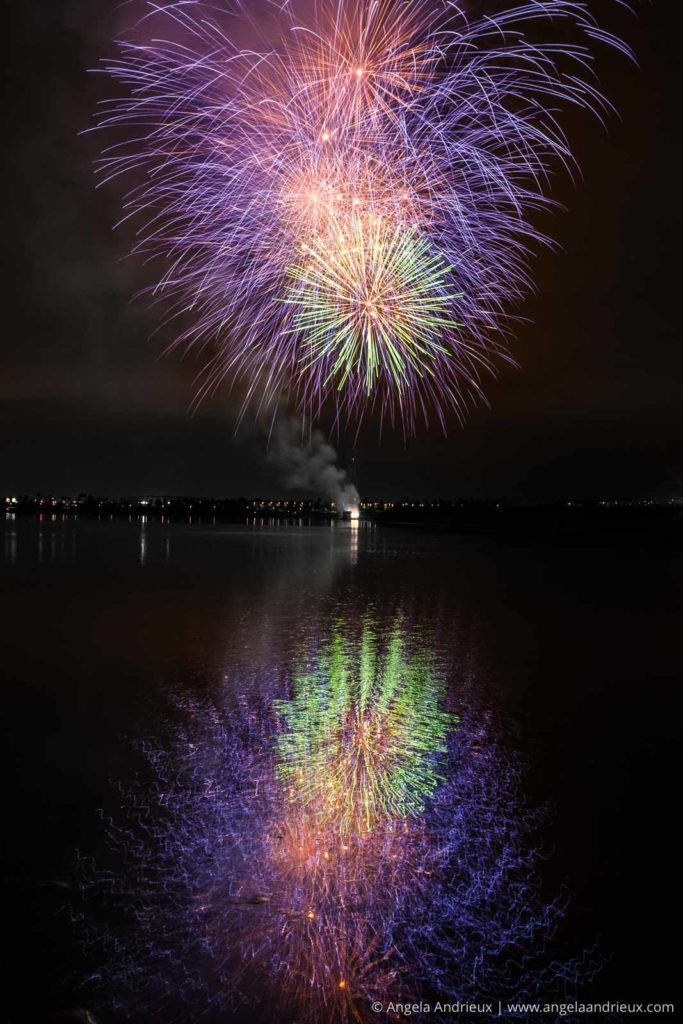 Seaworld Fireworks from Fiesta Island in Mission Bay | San Diego, CA