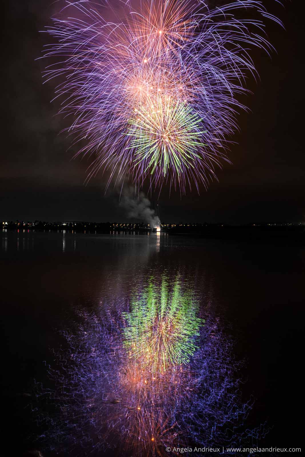 Seaworld Fireworks from Fiesta Island in Mission Bay | San Diego, CA