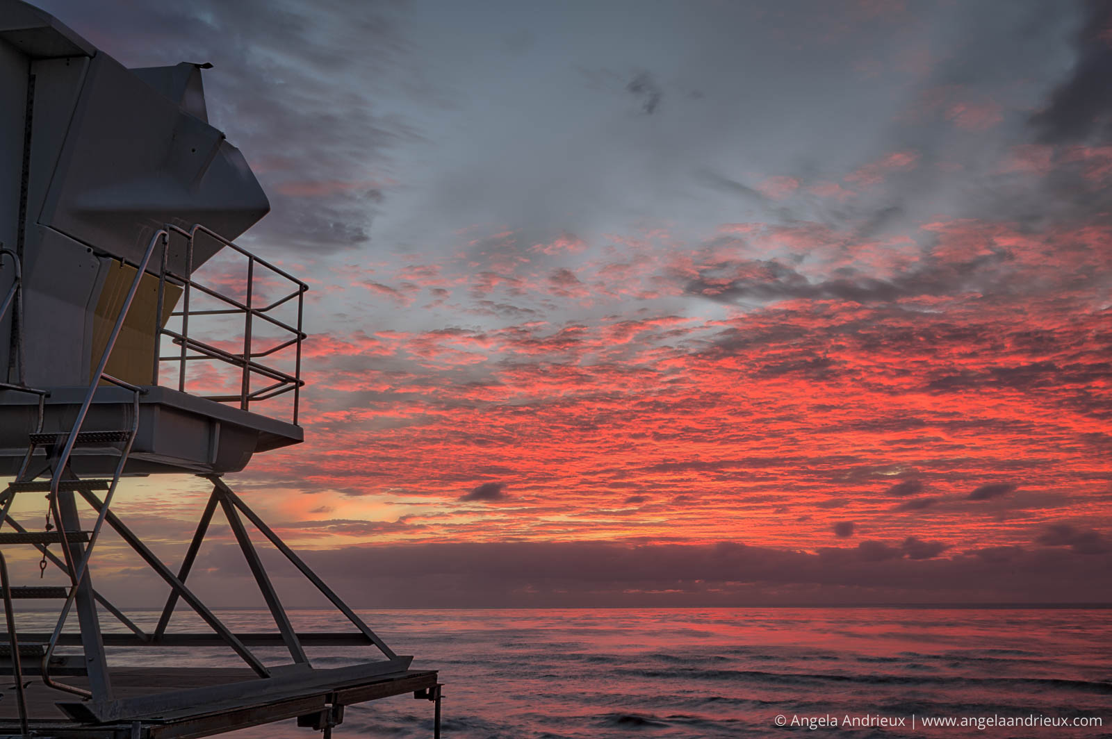 La Jolla Lifeguard Stand at Sunset