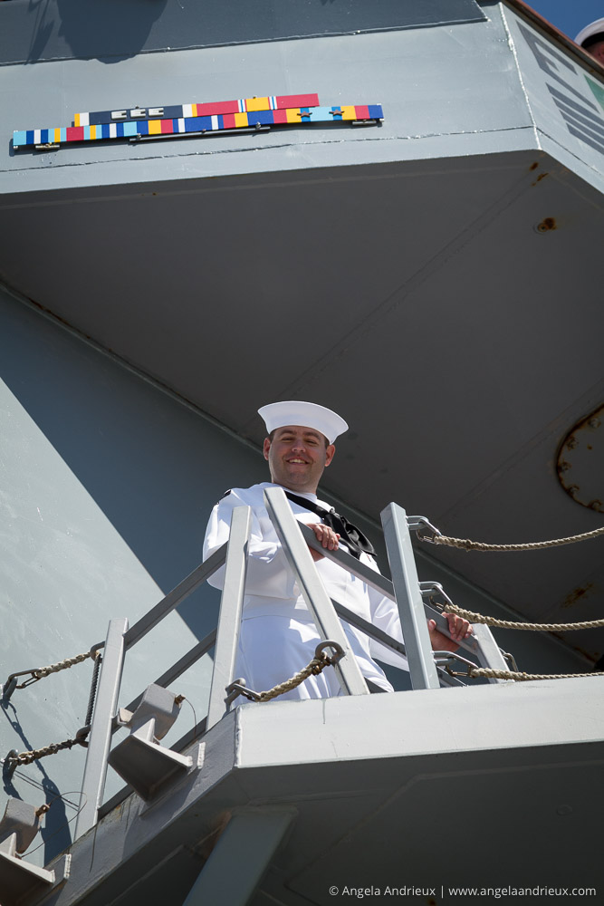 Les leaving on deployment on the USS Sterett, DDG 104