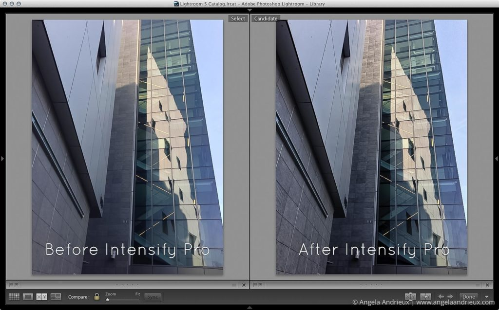 iPhone 5 Photo before and after Intensify Pro