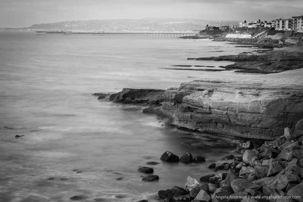 Sunset Cliffs in Black and White | San Diego, CA