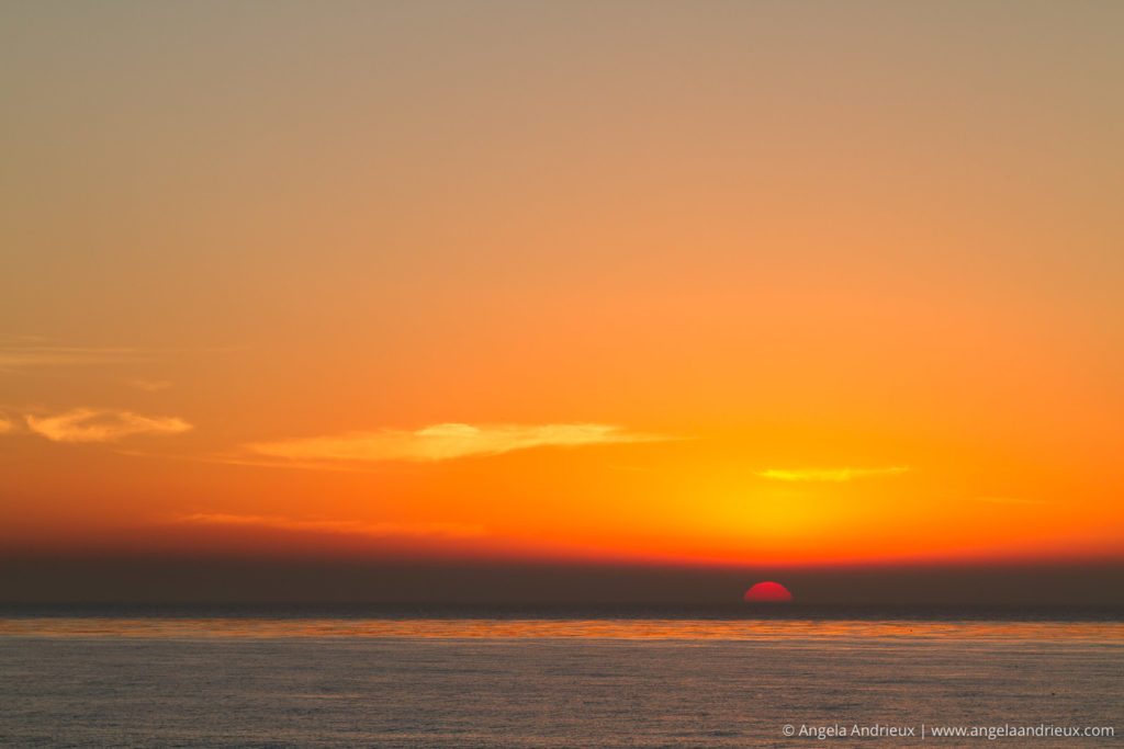 Sun setting into the pacific | Sunset Cliffs | San Diego, CA