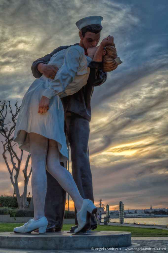 Unconditional Surrender | San Diego, CA | Sculpture at Sunset