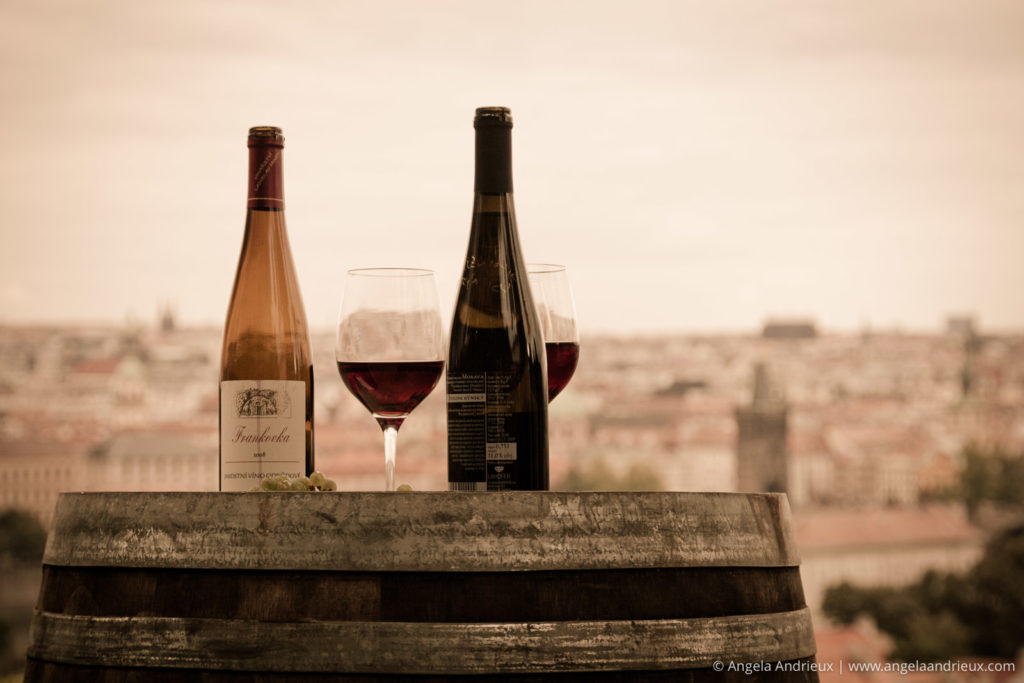Sipping Wine whilst overlooking Prague in 2010 | Czech Republic