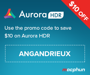 "Save $10 on Aurora HDR by Macphun using coupon code ""angandrieux"" at checkout"