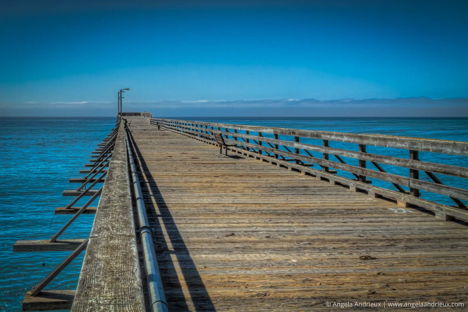 Cayucos Pier on a bright blue sunny day