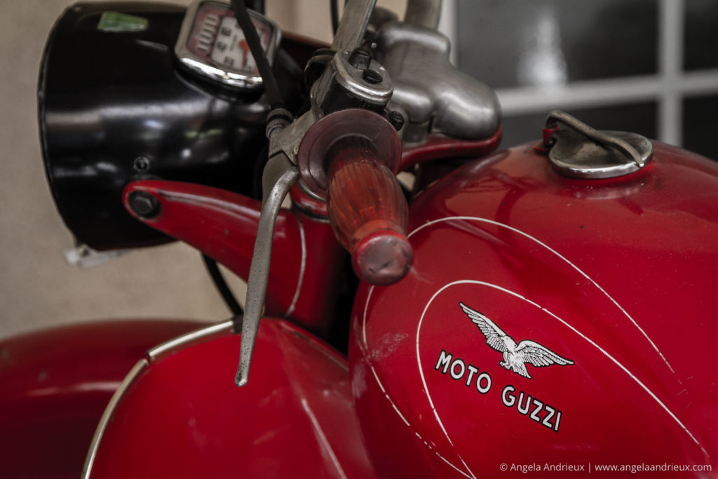 Doffo Winery | Temecula Valley, CA | Red Moto Guzzi | Vintage Motorcycle