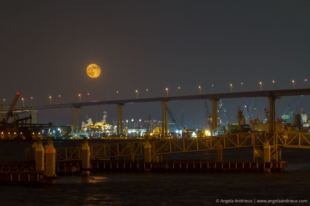 Full moon over the Coronado Bridge | San Diego, CA