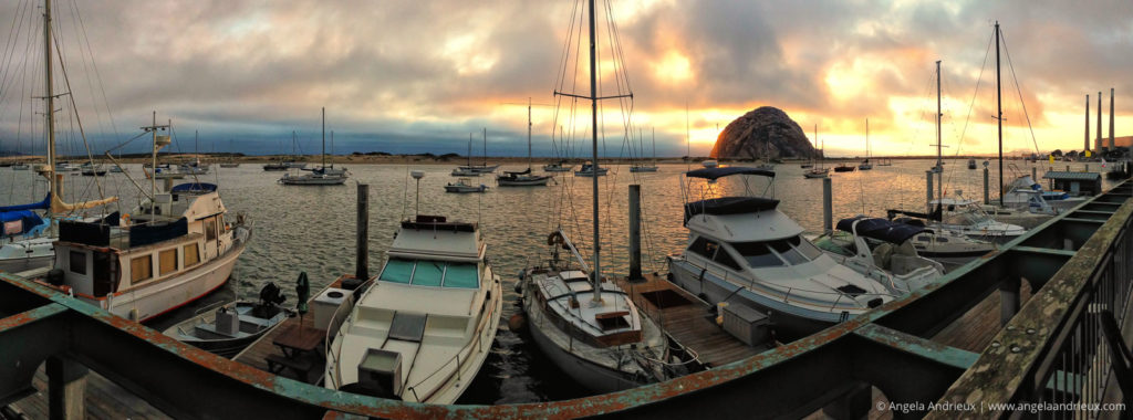Gorgeous Morro Bay, CA sunset!