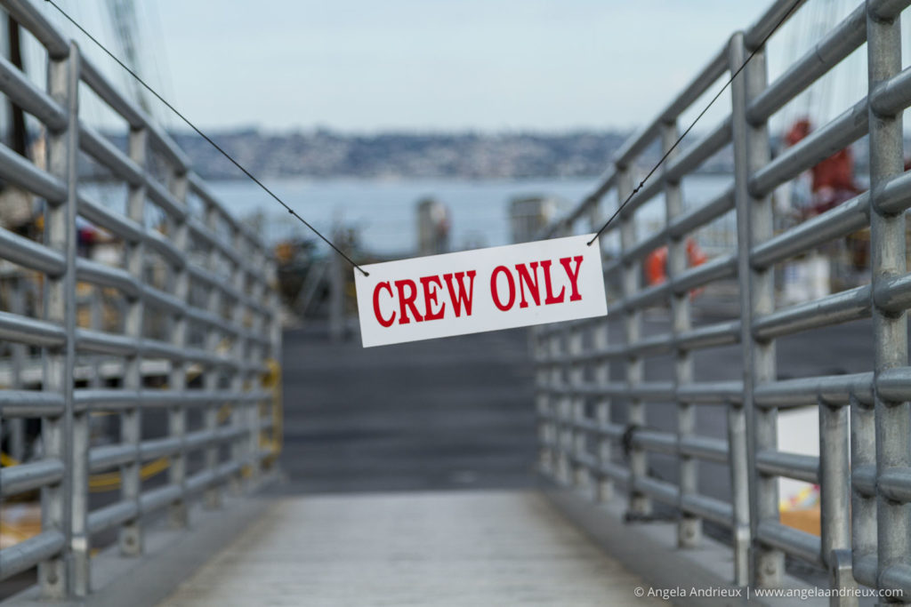 Crew Only Sign | Festival of Sail | San Diego, CA