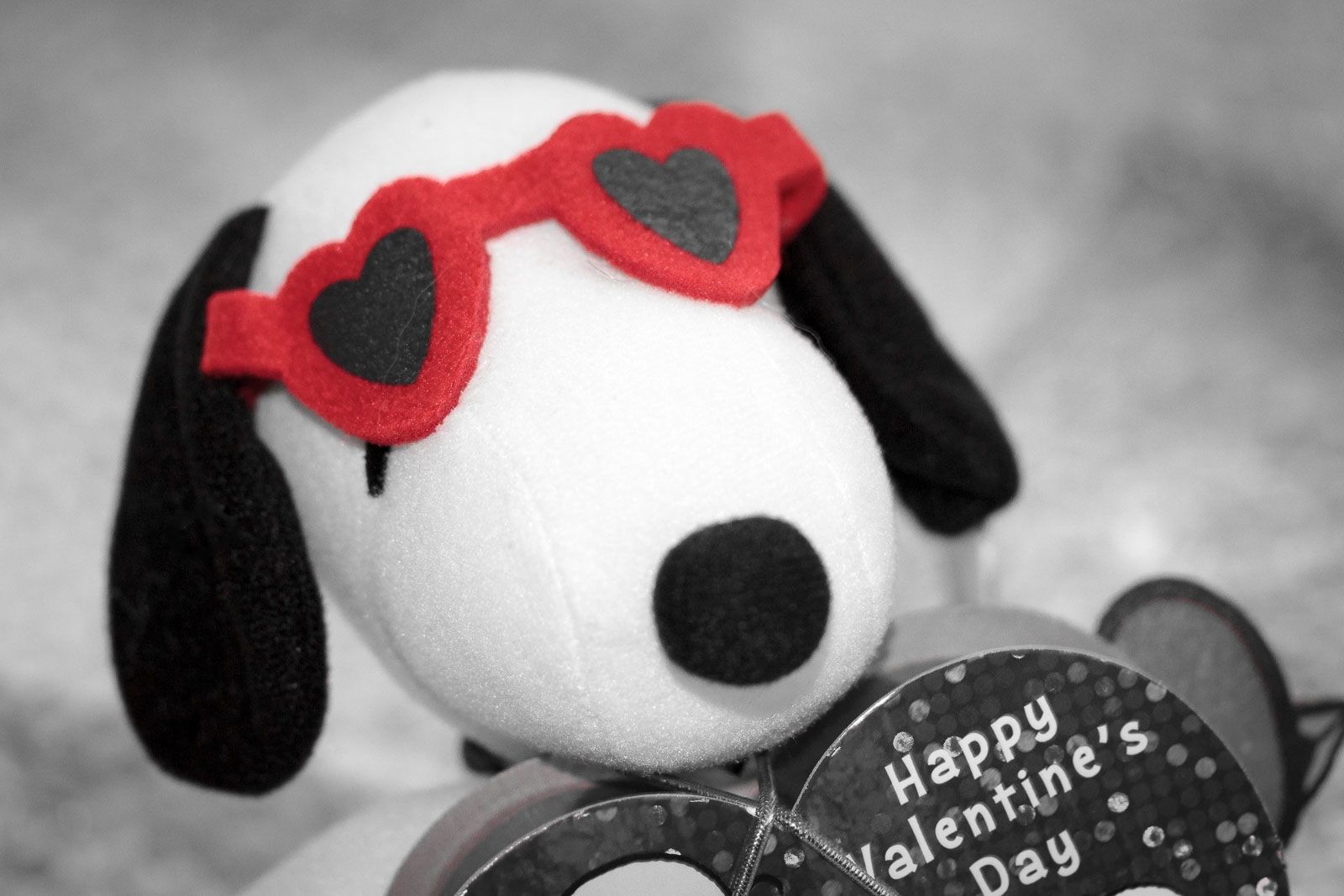 Valentine's Day Snoopy with Red Heart Sunglasses