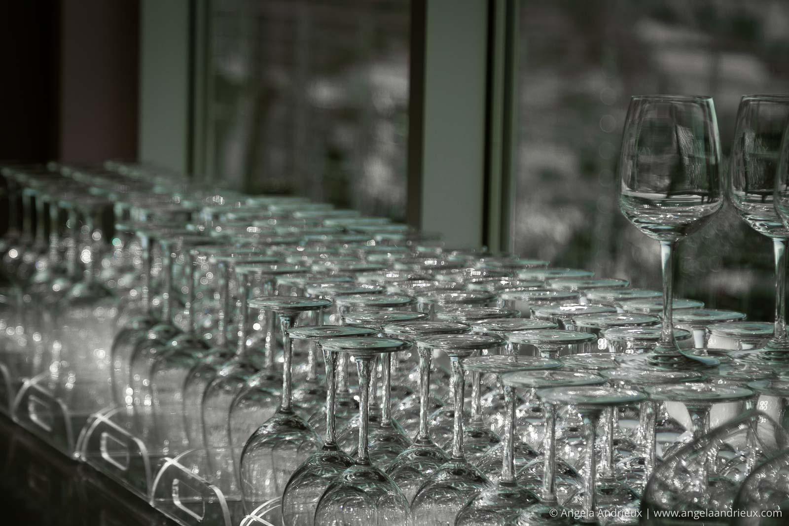 A multitude of wine glasses