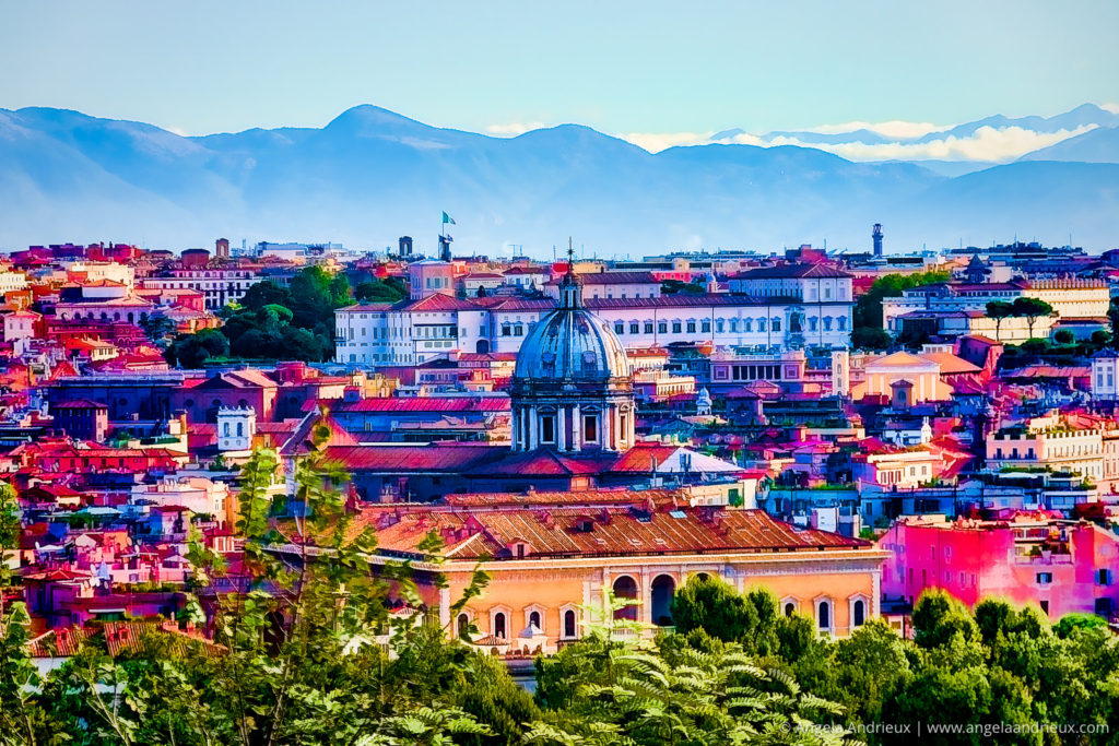 Bright Color Interpretation of Rome, Italy | Made With Topaz Labs Software