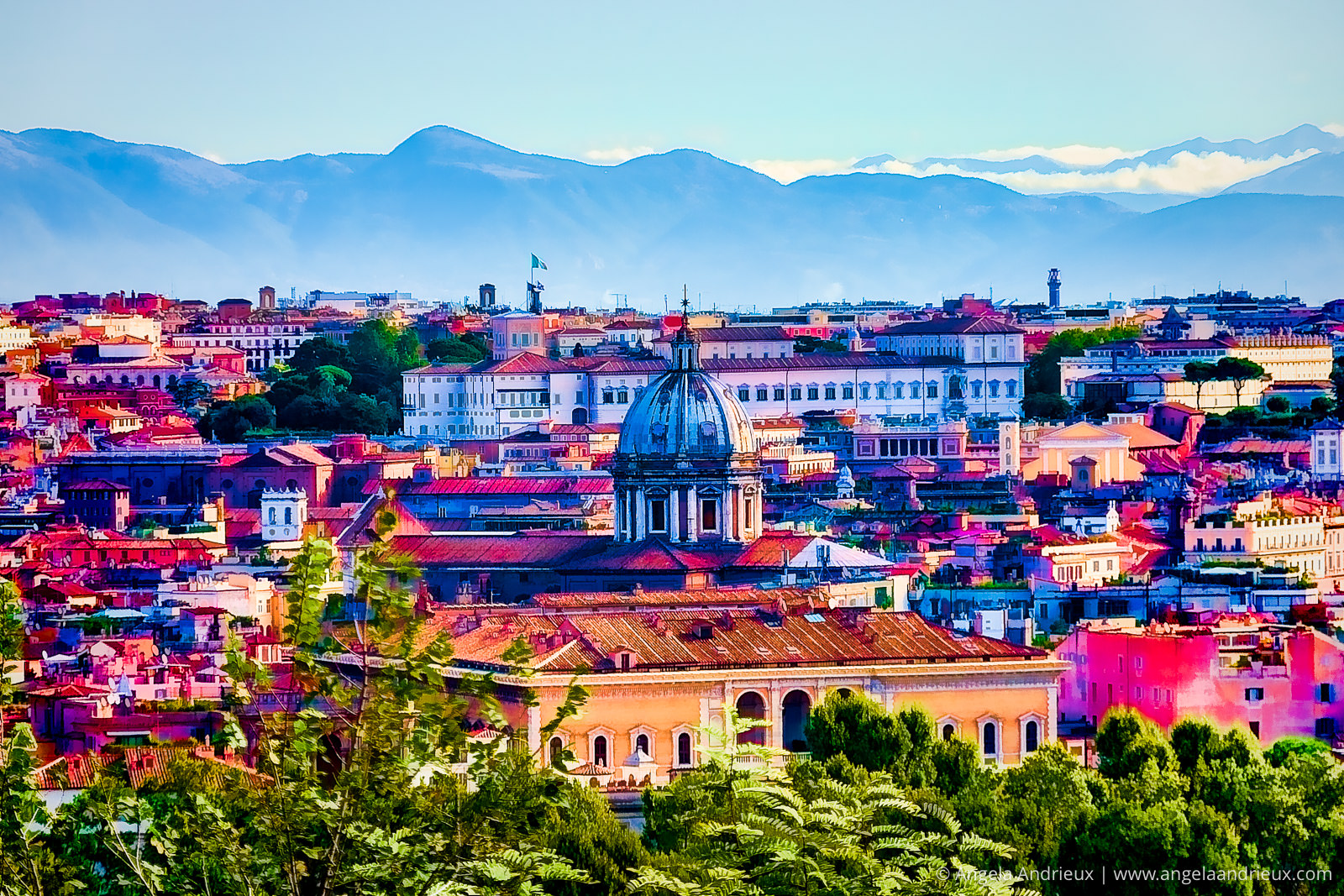 Bright Color Interpretation of Rome, Italy | Made With Topaz Plugins