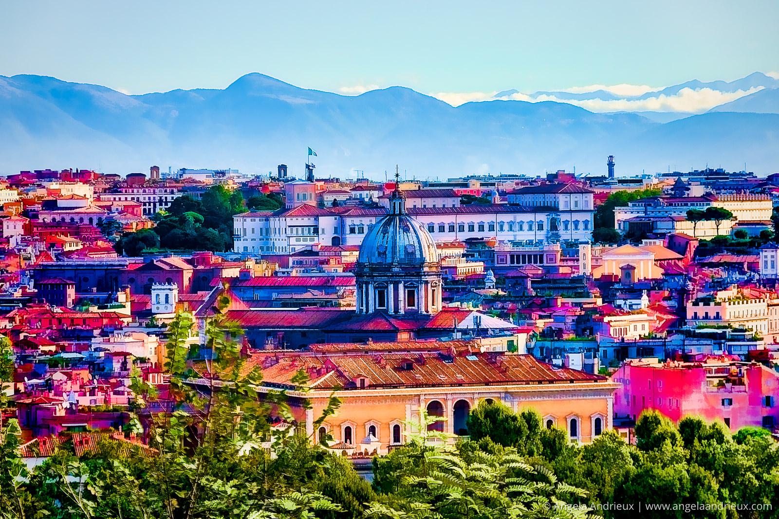 Bright Color Interpretation of Rome, Italy | Made With Topaz Plugins