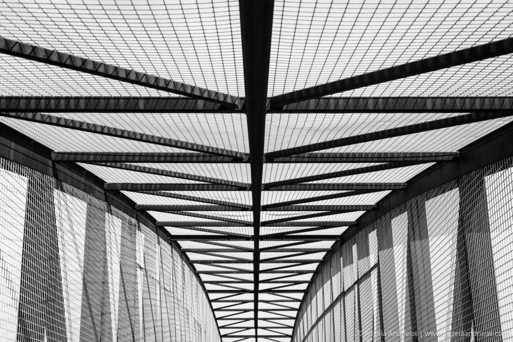 Jennifer Street Bridge Black and White Abstract | San Luis Obispo, CA