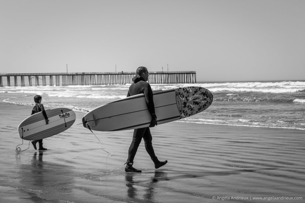 Father and Son Surfing Duo | Pismo Beach Street Photography