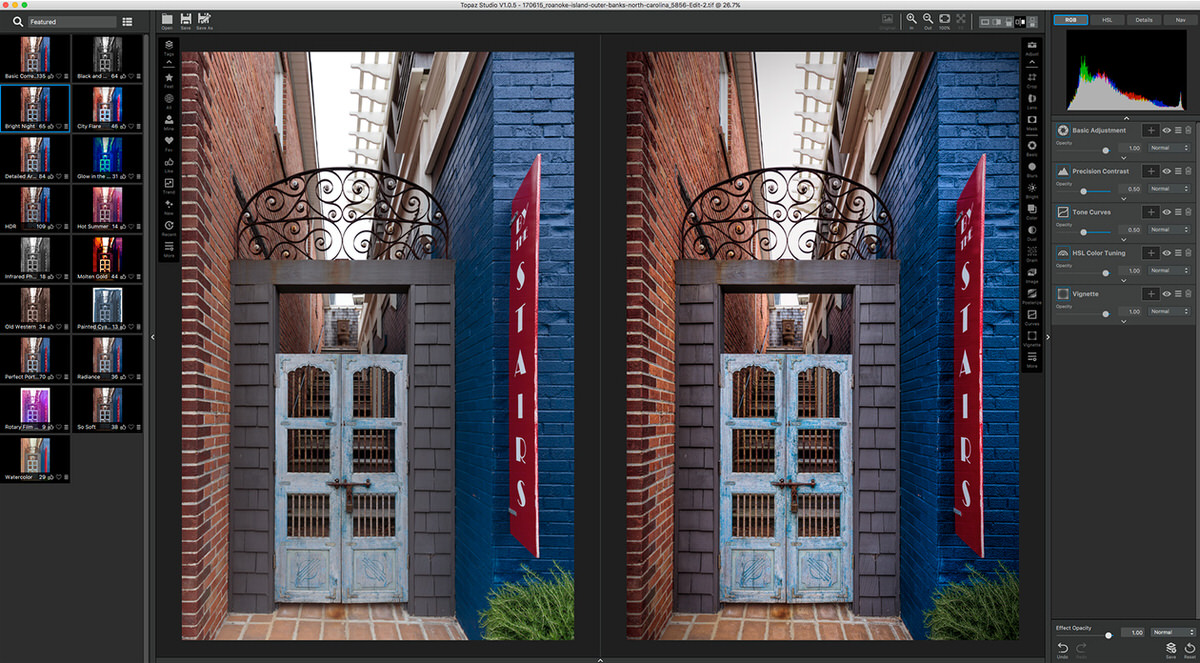 Before and After Topaz Studio