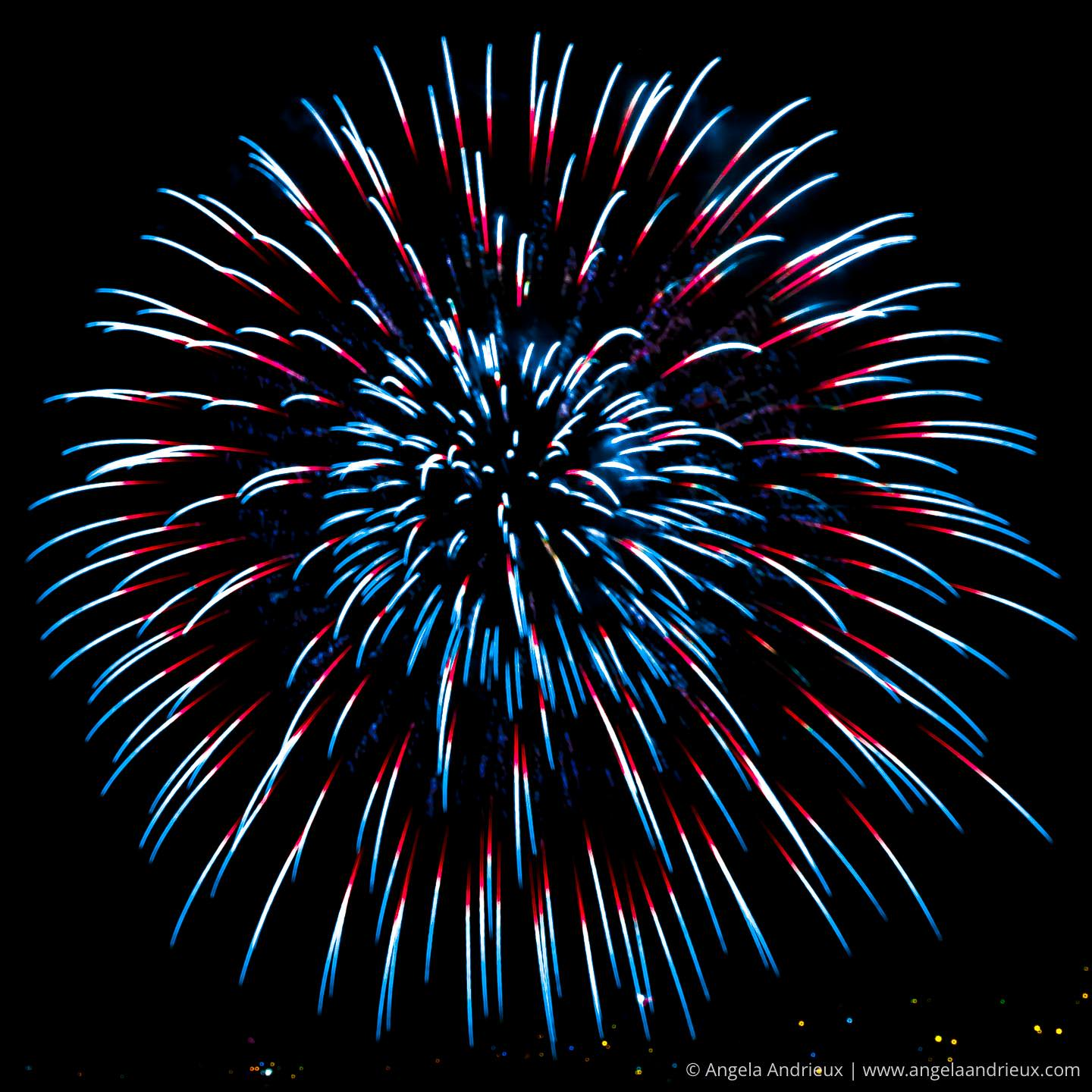 Red White and Blue Fireworks Photos