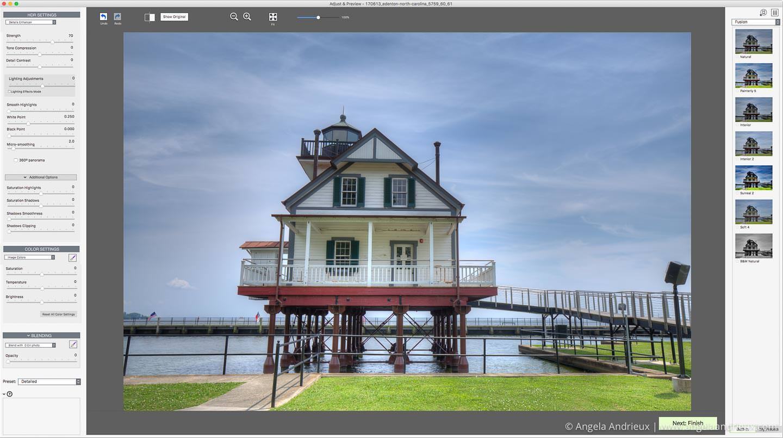 Photomatix Pro Interface | Photomatix vs Aurora HDR
