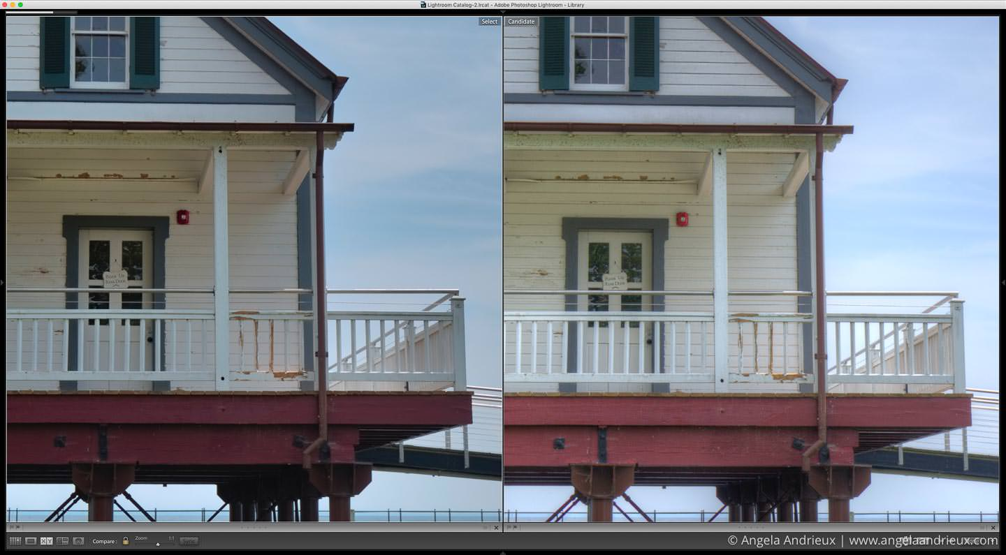 Detail comparison of the default HDR from Aurora HDR 2017 and Photomatix Pro 6